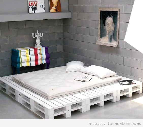 ideas para hacer camas de matrimonio con palets 1  DORMITORIOS y