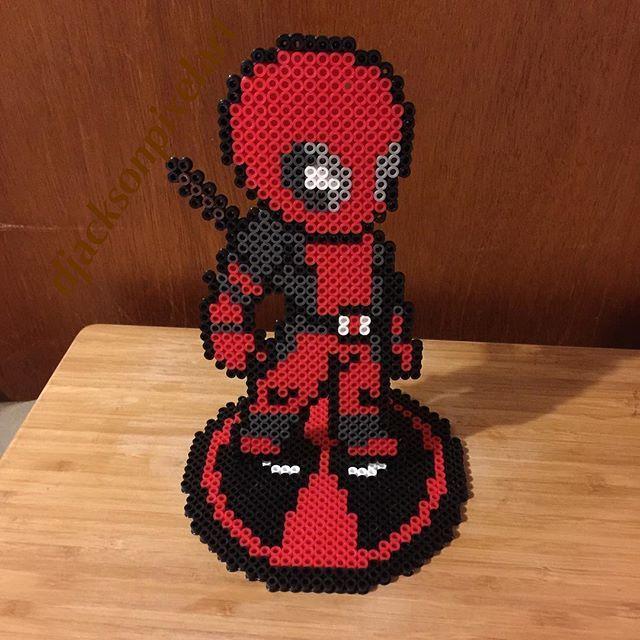Deadpool Perler Beads By Biizu Biizu Bugelperlen Hama