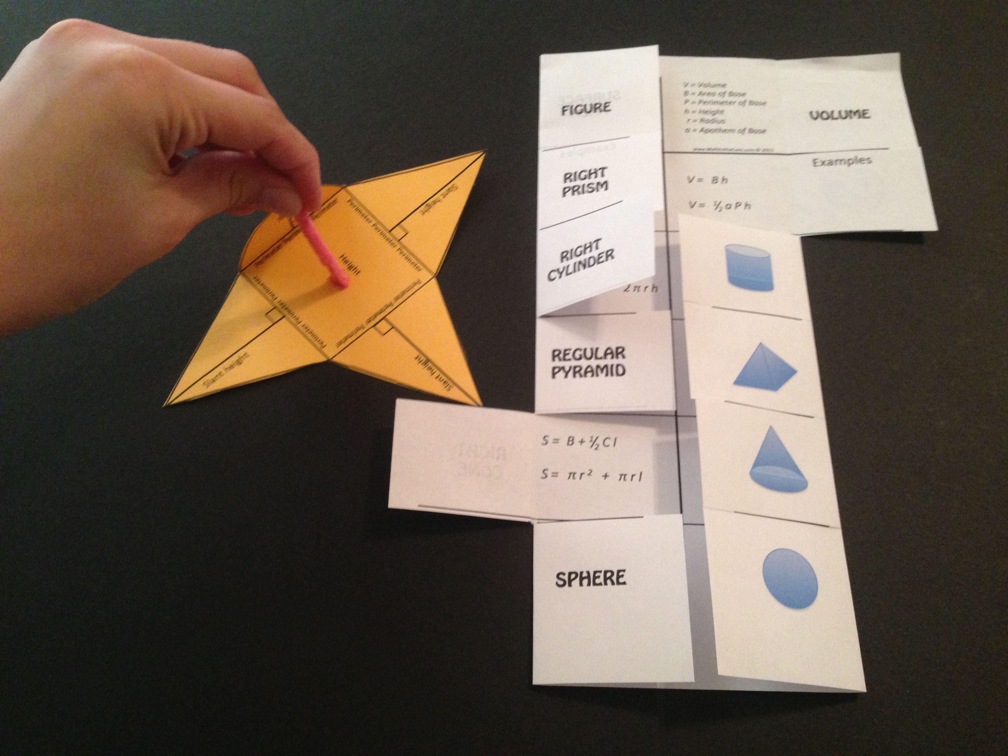 Volume And Surface Area  Cheat Sheet  Foldable  Model! Create A Foldable  Or
