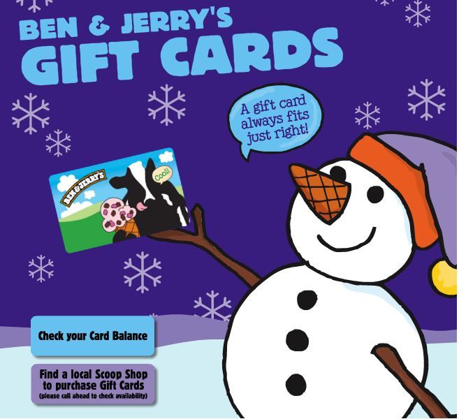 Give sweetness with a Ben & Jerry's gift card! | The Gift of ...