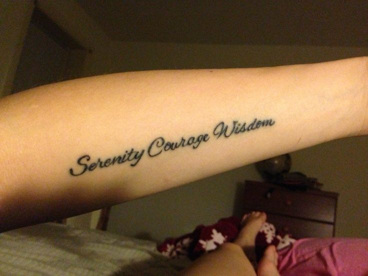 My Serenity Prayer tattoo - LOVE! | Serenity Prayer ...