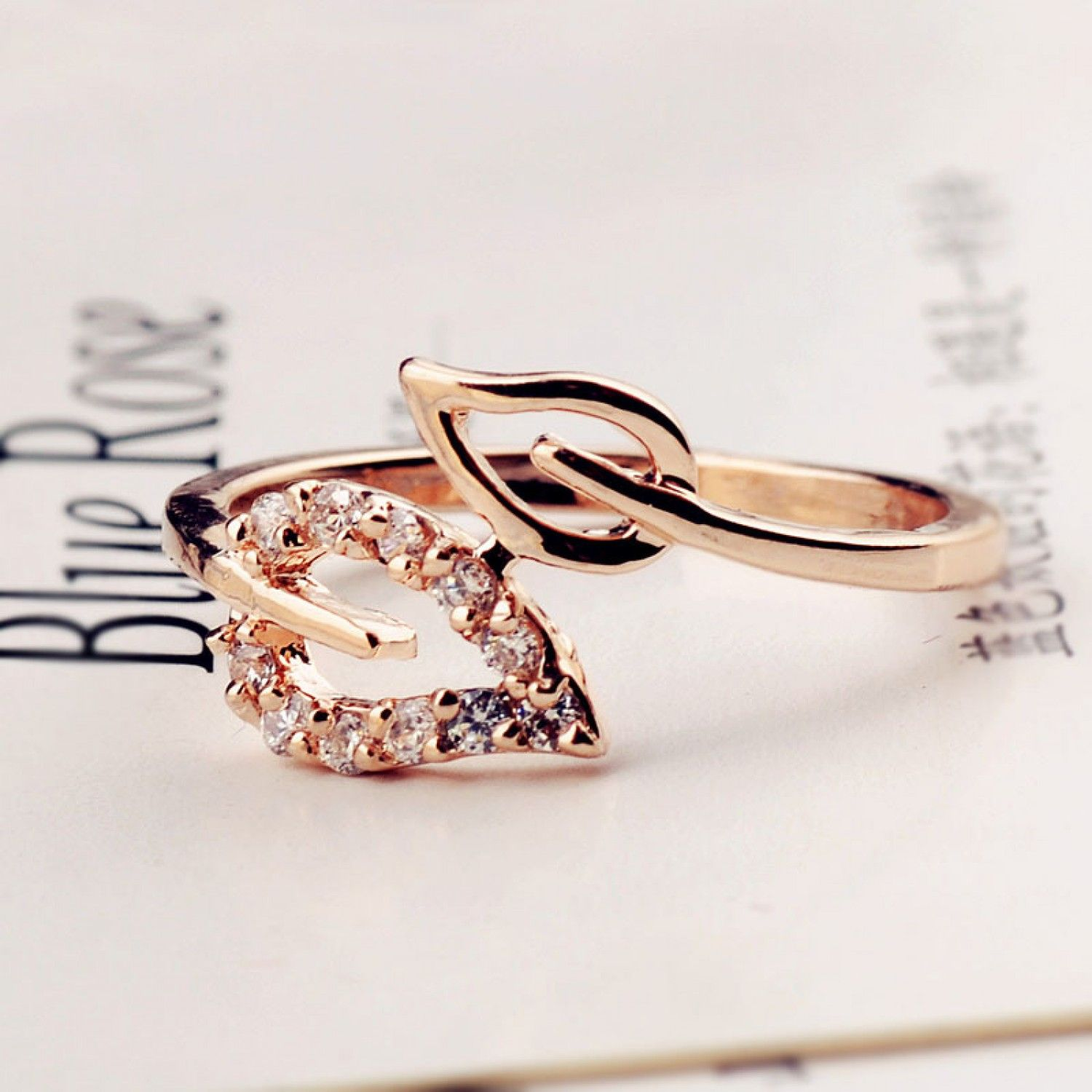 for korean gold promise matching rings beautiful couples wedding