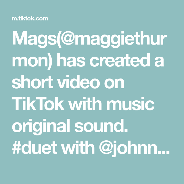 Mags Maggiethurmon Has Created A Short Video On Tiktok With Music Original Sound Duet With Johnnyringer In 2021 The Originals Draco Malfoy Music
