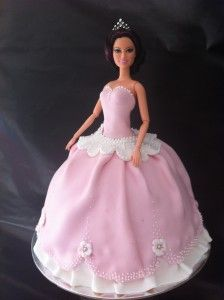 Fondant Princess Doll Cake with easy to follow video tutorial