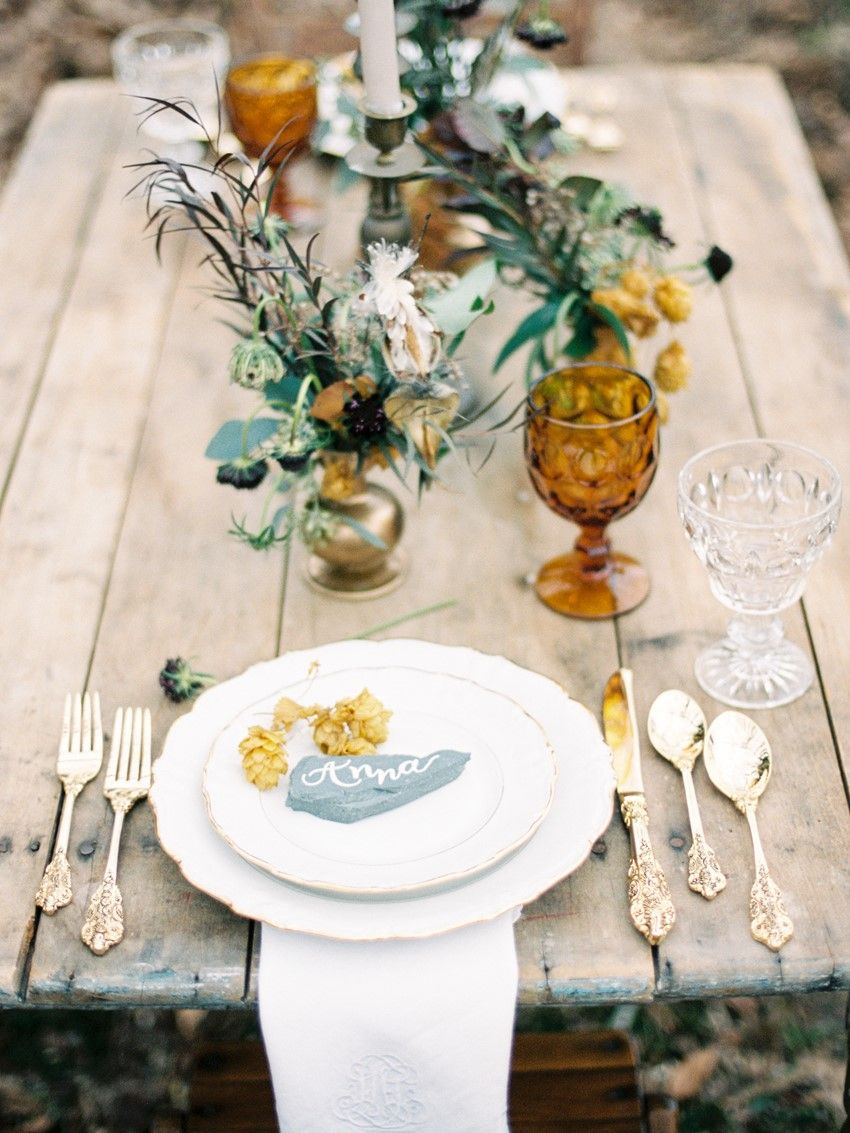 Rustic Vintage Wedding Place Setting // Photography ~ Live View Studios