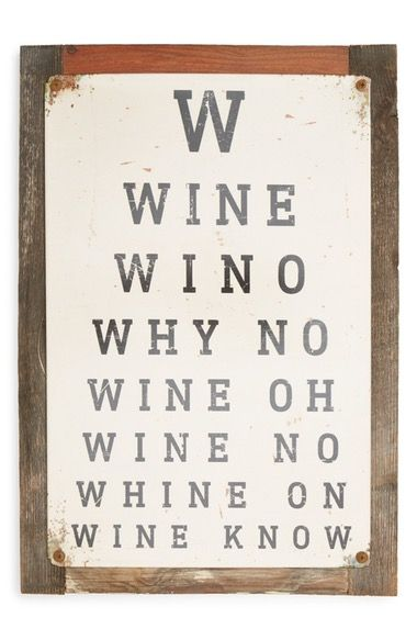 Poncho Goldstein Wine Eye Chart Sign Available At Nordstrom