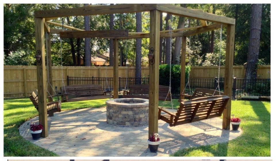 Tutorial For Round Pergola With Fire Pit And Swings
