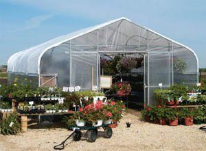 Bench-Mart Retail Greenhouse - 17' wide x 24' long . $5872.00. The Bench-Mart provides full plant protection in an impressive, highly visible structure. It's 17-foot width reduces parking space loss by covering only one row in most retail lots. Easy to set up, easy to move, easy to expand. Each greenhouse contains built-in side and center benching brackets to hold plants, plus each bay includes four runs of hanging basket purlins.