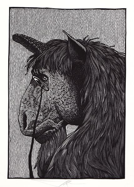 Unicorn by Barry Moser from Alice in Wonderland & Through the Looking Glass | R. Michelson Galleries