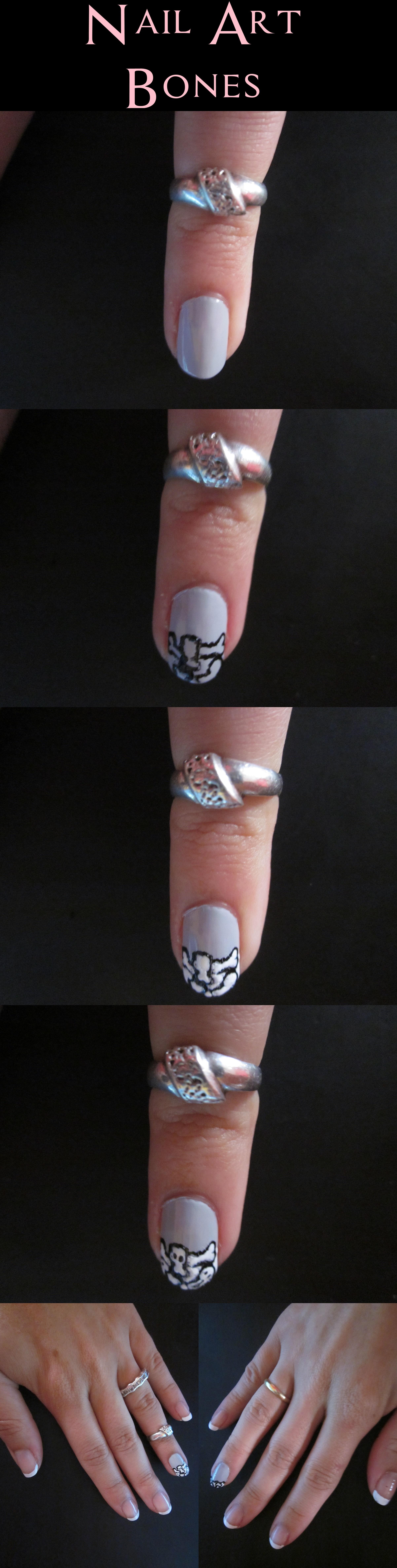 Nail Art - Bones