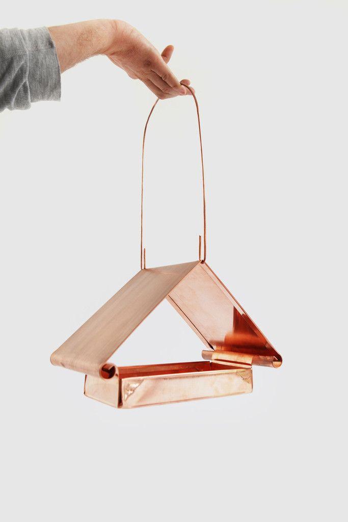Pediment Bird Feeder #copper