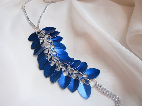 Blue Serpentine Scale and Chain Barefoot Sandal by 13OclockDesigns, $10.00