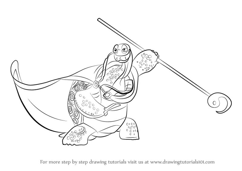 Learn How to Draw Oogway from Kung Fu Panda 3 (Kung Fu Panda 3) Step ...