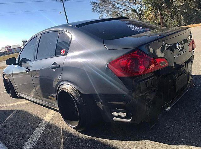 Nissan #Infiniti #Skyline 250GT #V36 #WORK_Wheels #Modified #Slammed