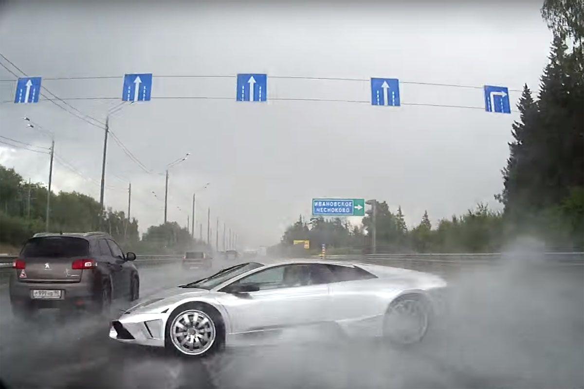 Friday Fail Don T Speed In The Rain Even With Awd Car Fails Lamborghini Lamborghini Murcielago