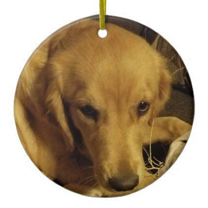 Golden Retriever Ceramic Ornament Golden Retriever Puppy