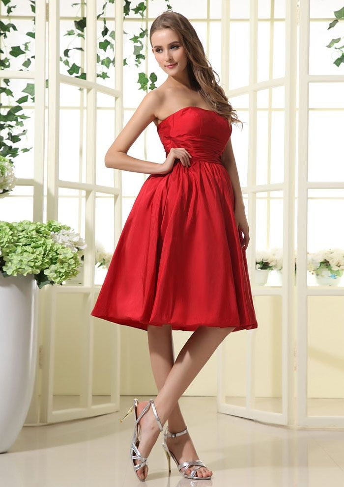 red bridesmaid dresses short in front long in back  Top 50 Short ...
