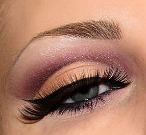 Peach and purple cut crease