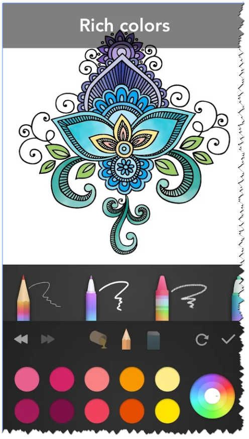 Mandala Coloring Book Screenshot