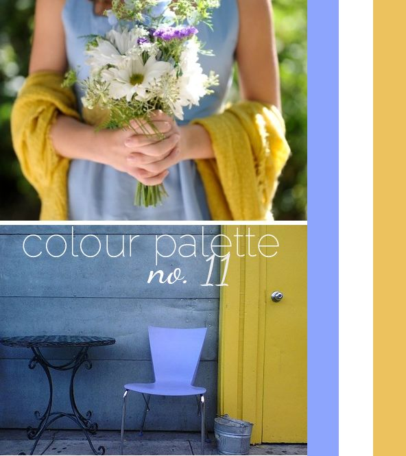 Wedding Obsession Perfect Color Palette No 11 Periwinkle Mustard Yellow