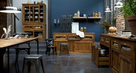 cuisine bois bleu recherche google home pinterest. Black Bedroom Furniture Sets. Home Design Ideas