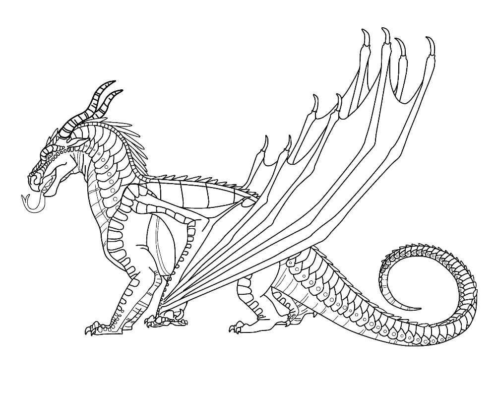 Nightwing Dragon Coloring Pages In 2020 Wings Of Fire Dragon Coloring Page Wings Of Fire Dragons