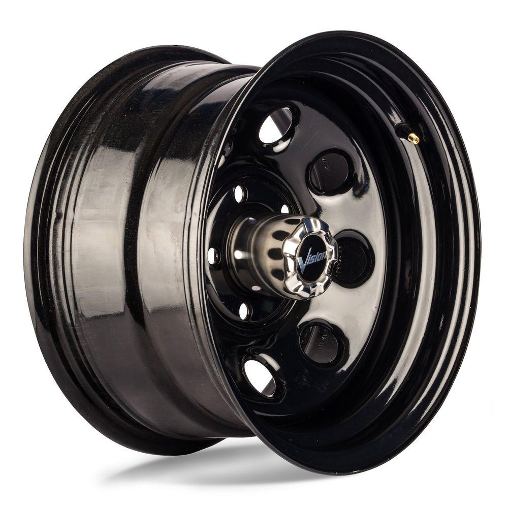 17 Vision 85 Soft 8 Gloss Black Steel Wheel 17x9 5x5 12mm Jeep 5 Lug Truck Rim Black Steel Wheels Truck Rims Black Steel