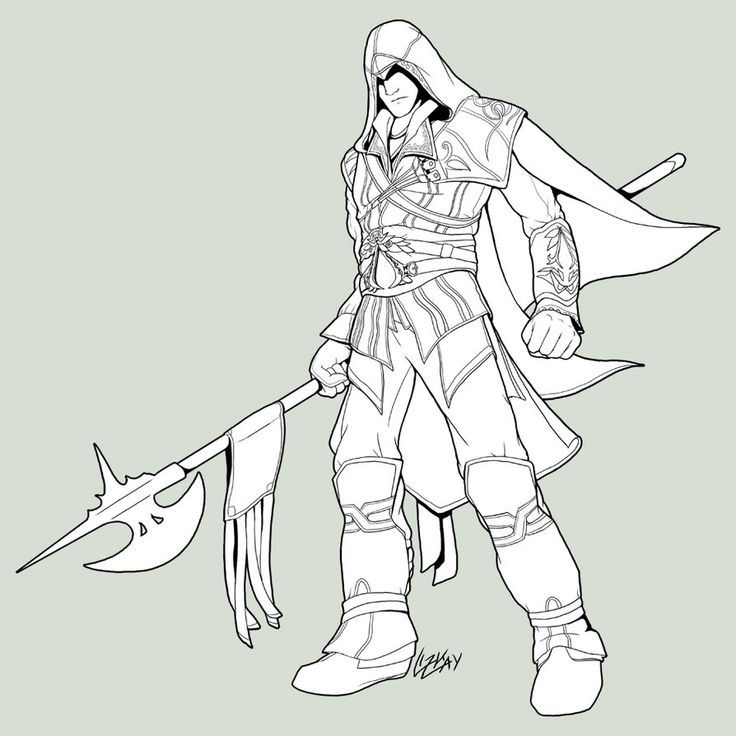 assassin creed coloring pages All Assassin's Creed Coloring Pages | Ezio Kigurumi | Coloring  assassin creed coloring pages