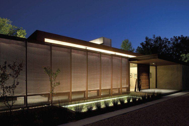 panneau occultant et cl ture brise vue en m tal en 65 id es avantageuses jardin moderne brise. Black Bedroom Furniture Sets. Home Design Ideas
