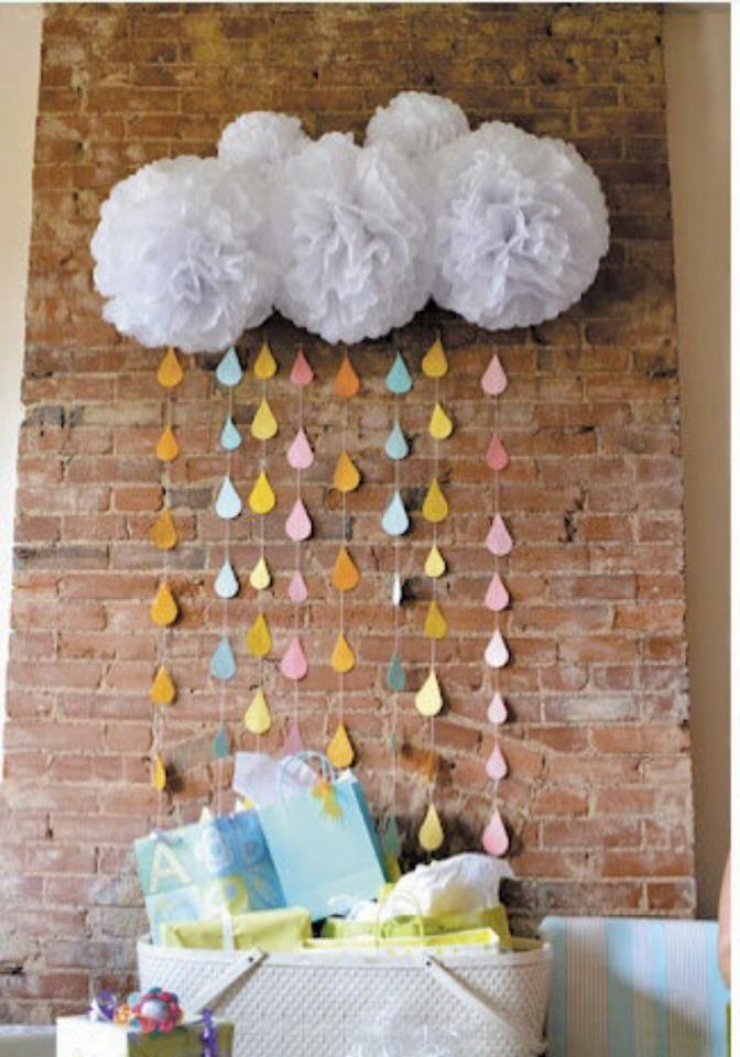 Adornos Para Mesa De Regalos De Baby Shower.Pompones De Papel Decoracion Regalo Baby Shower Fiesta