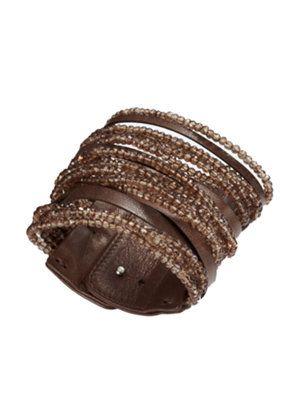 roma wrap quartz bracelet  Not gonna pay $1425.00 for it, but I could probably make something similar.