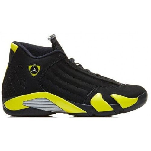 Authentic 654459-670 Air Jordan 14 Retro Varsity Red/Vibrant Yellow-Black