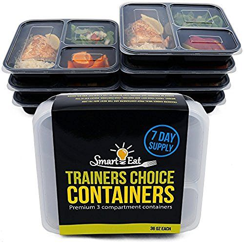 California Home Goods 3 Compartment Reusable Food Storage Containers With Lids Microwave And Di Food Storage Containers Food Storage Best Meal Prep Containers