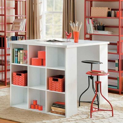 High Quality Project Table With Bookcase