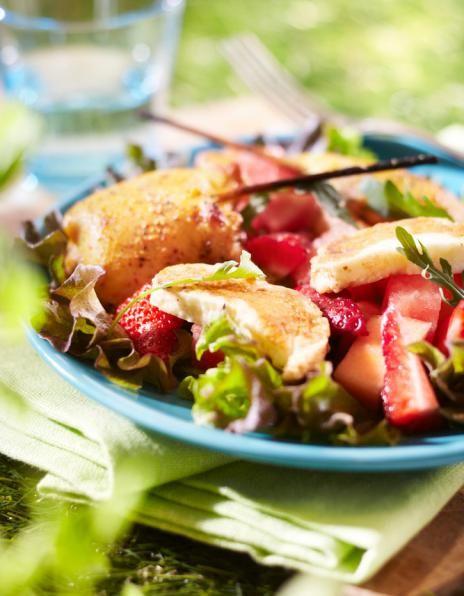 Meloni-halloumi-mansikkasalaatti | Muut sesongit/teemat | Pirkka