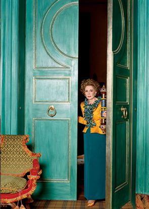 Sao Schlumberger in YSL Celebritati Pinterest Vie, Intérieur - couleur des portes interieur