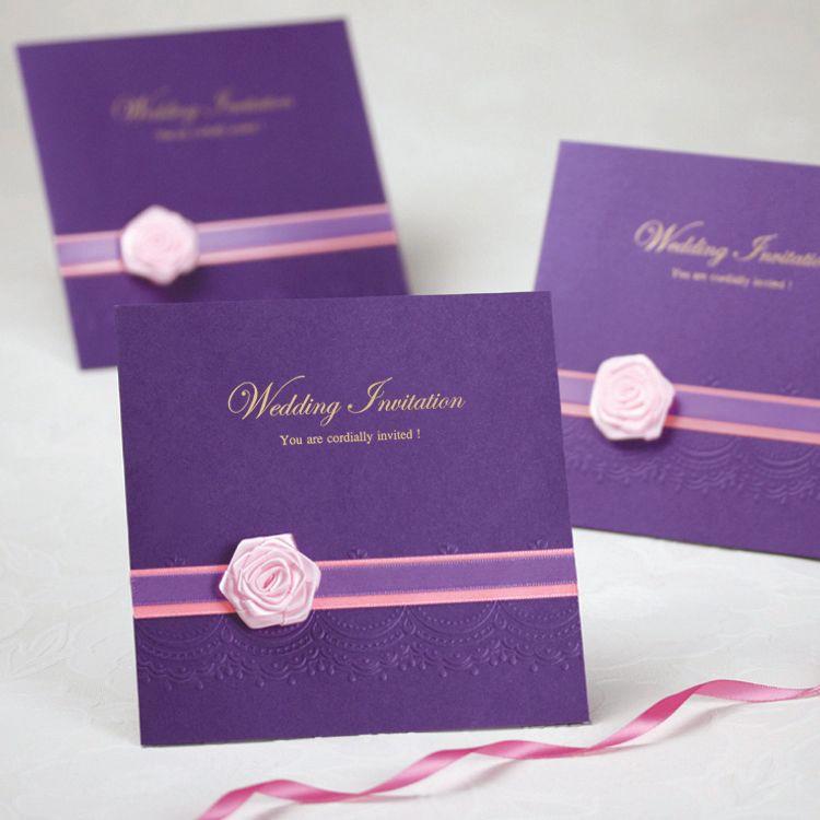 purple wedding invitations wedding