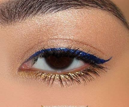 Gold Eyeliner Looks and Ideas - Top 10