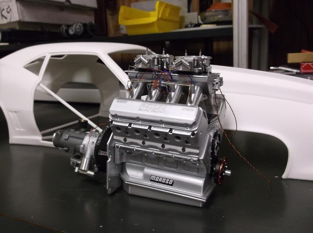 18 '69 nitrous pro mod camaro Big Boyz Model Cars