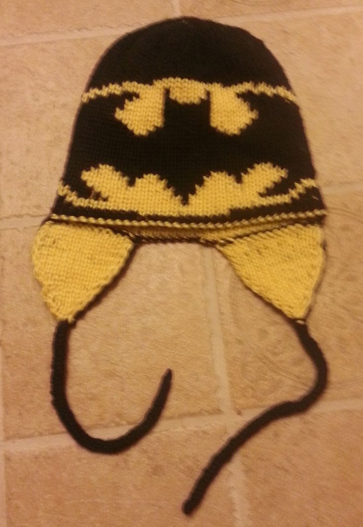 Free Batman Knitted Hat Double Knitting Batman Hat Pattern Images