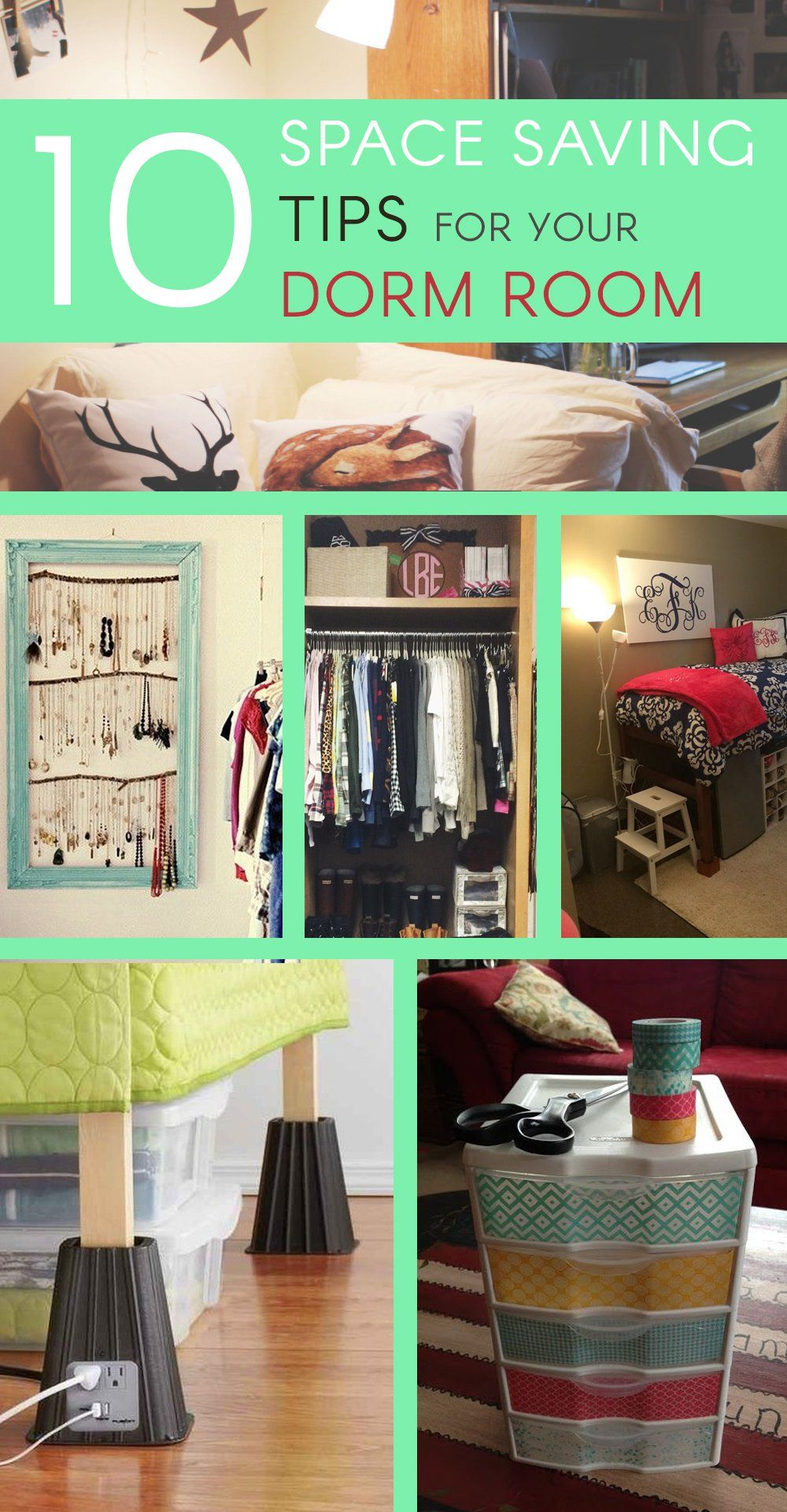 to wear - Organizing for Dormtips a small closet video