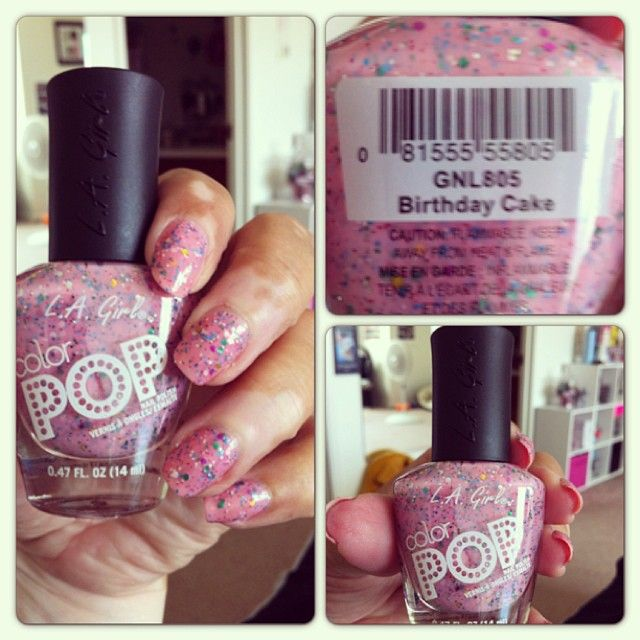 LA Girl Color Pop Polish In Birthday Cake I Love It Nail Games