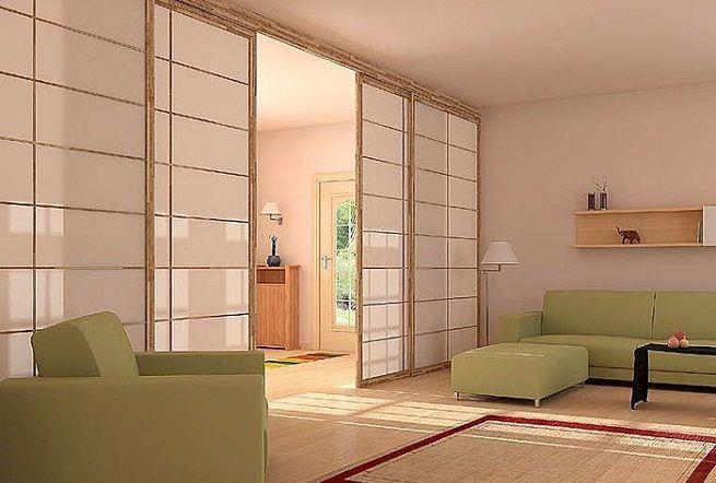Separar ambientes con paneles shoji cosas para - Puertas correderas para separar ambientes ...