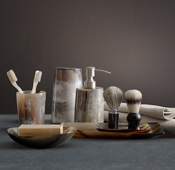 Horn canister by restoration hardware accessories - Restoration hardware bathroom accessories ...