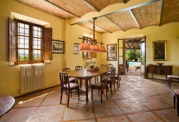 Terrakotta Fliesen Bodenbelag Design Stil Der Toskana Mediterran