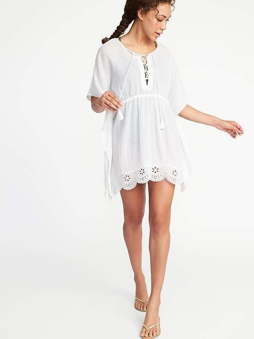 4acced594a47c Old Navy Embroidered Gauze Swim Kaftan for Women | Products in 2019 ...