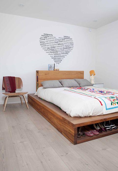Cómo construir una cama con cajones | Cama con cajones, Cómo ...