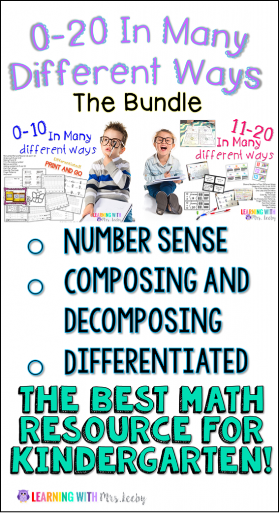 Number Sense for 0-20 - this is the perfect math resource for ...