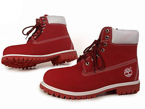 Timberland Men's 6-Inch with Padded Collar-Red White | Want ...