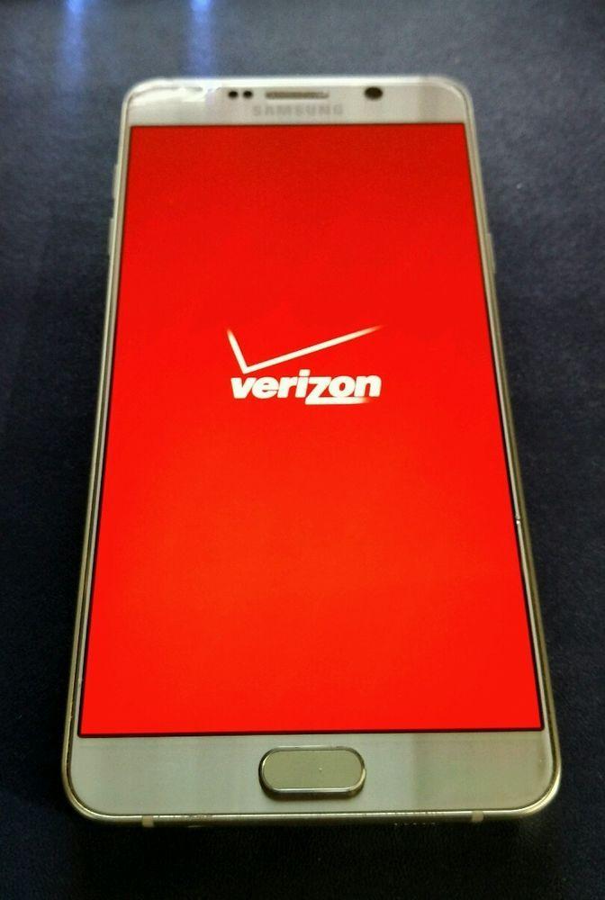 Samsung Galaxy Note5 SM-N920 - 32GB - Gold Platinum Verizon Smartphone Clean ESN #Samsung #Bar